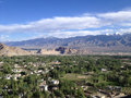Leh city view from Shanti stupa, Leh, Ladakh, India Royalty Free Stock Photo