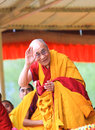 Leh india august his holiness the th dalai lama gives teachings on at shewatsel grounds jammu and kashmir Royalty Free Stock Image