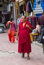 Leh indien september buddhistischer mönch  in leh indien bu Lizenzfreies Stockbild