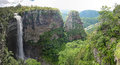 Lehr s falls panorama oribi gorge kwazulu natal south africa vertical stitched from separate photos Royalty Free Stock Photography