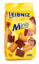 Leibniz Minis Chocolate butter biscuits isolated on white background with clipping path