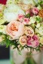 Leichter blumenstrauß instagram effekt weinlesefarben Stockfoto