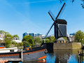 Leiden inhouse city windmill park de put in the center of the of netherlands Stock Photo