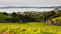 Leigh north island new zeland view towards the town of from a lookout zealand Stock Image