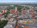 Leipzig aerial view of the city of in germany Royalty Free Stock Photos