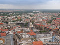 Leipzig aerial view germany june of the city Stock Images