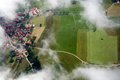 Leisure flight at allgau bavaria germany aireal picture taken the Stock Photos