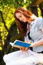 Leisure Reading in a Park Royalty Free Stock Image