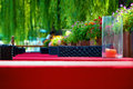 Leisure tea house a in houhai of historical beijing Stock Photo
