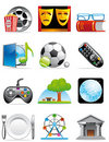 Leisure time icons Stock Images