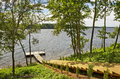 Leisuse place private pier along the river of daugava in latvia Royalty Free Stock Photography