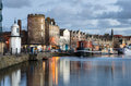 Leith Harbour at Dusk Royalty Free Stock Photo