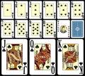 leka för 3 blackjackkort Arkivbild