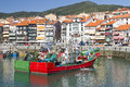 Lekeitio spain seaport of basque country Royalty Free Stock Photography