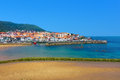 Lekeitio village and port in Basque Country Royalty Free Stock Photo