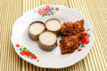 Lemang rendang ready to eat on eid festival is a traditional indonesian malaysian singaporean food and made of glutinous rice Royalty Free Stock Image
