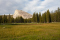 Lembert dome beautiful shades of grenn and yellow grass in tuolumne meadows yosemite national park Stock Photos