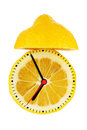 Lemon Alarm Clock Royalty Free Stock Photography