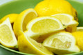 Lemon in a bowl Stock Photos