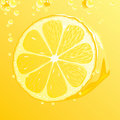 Lemon with bubbles Royalty Free Stock Photography