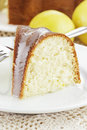 Lemon Bundt Cake Royalty Free Stock Image
