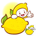 Lemon characters to promote fruit selling fruit character desig design series Stock Photos
