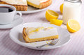 Lemon cheesecake delicious Royalty Free Stock Photo