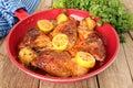 Lemon Cilantro chicken Royalty Free Stock Photo