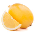 Lemon or citron citrus fruit on white background cutout Royalty Free Stock Image
