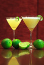 Lemon cocktail drinks with dark wooden background Stock Photo