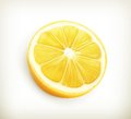 Lemon computer illustration on white background Royalty Free Stock Photo
