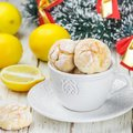 Lemon cookies with powdered sugar Royalty Free Stock Photo
