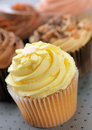 Lemon Cupcake Stock Photography