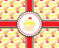 Lemon cupcake gift Stock Photography