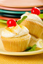 Lemon Cupcakes Stock Images