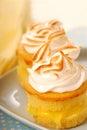 Lemon curd cupcakes Royalty Free Stock Photo