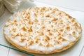 Lemon curd and meringue tart burned Royalty Free Stock Images