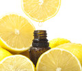 Lemon essential oil Royalty Free Stock Photo