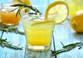 Lemon fizz in a glass Stock Photo