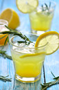 Lemon fizz in a glass Stock Photos