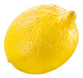 Lemon fruit isolated on white Royalty Free Stock Photo