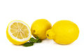 Lemon fruit on white Royalty Free Stock Photography