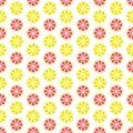 Lemon and Grapefruit Seamless Pattern