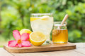lemon juice with honey Royalty Free Stock Photo