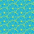 ABSTRACT LEMON SLICE SEAMLESS VECTOR PATTERN. FRESH SUMMER FEELING PATTERN