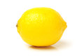 Lemon juicy on white background Royalty Free Stock Photos