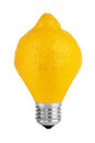 Lemon lamp Stock Photography