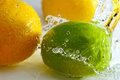Lemon and lime. Royalty Free Stock Images