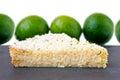 Lemon Lime Impossible Pie Slice Royalty Free Stock Photo