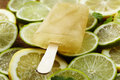 Lemon and lime lolly close up of slices with ice Stock Photography